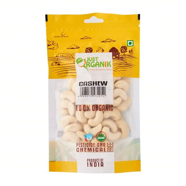 Picture of JUST ORGANIK Cashew Nuts  (Certified ORGANIC)