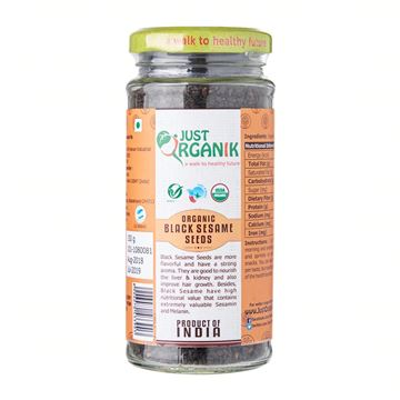 Picture of JUST ORGANIK Black Sesame Seeds (Certified ORGANIC)