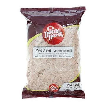 Picture of DOUBLE HORSE Red Rice Flakes (Poha)