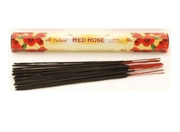Picture of Tulasi Red Rose Incense Sticks (Agarbathi)