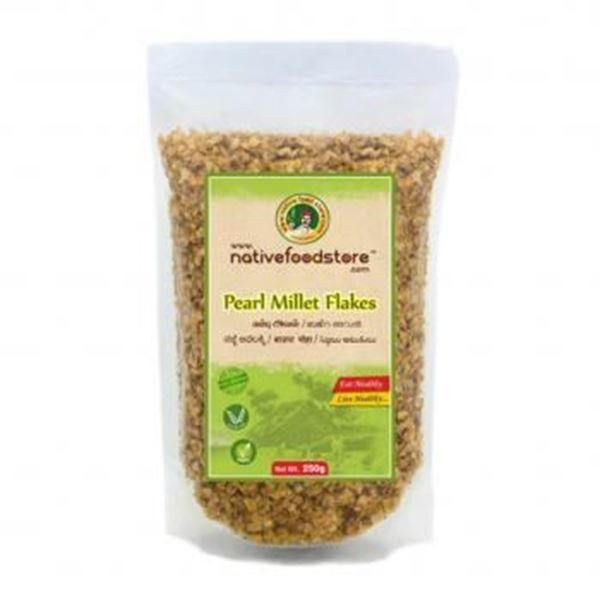 Picture of NATIVE FOODSTORE Bajra (Pearl) Millet Flakes