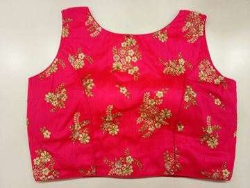 Picture of Blouse Pink With Gold Zip Model