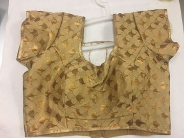 Picture of Blouse Self Gold design B