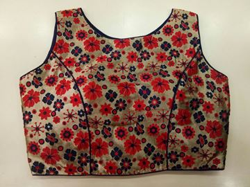 Picture of Blouse Red With Floral Designs