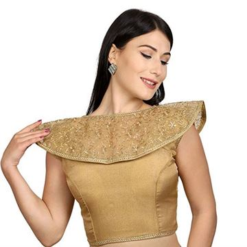 Picture of Blouse Golden Broad Shoulder Model