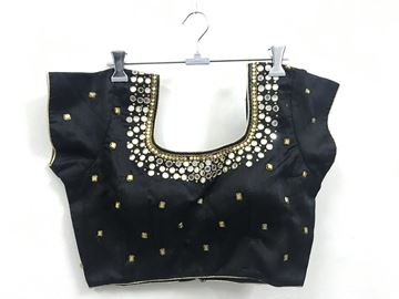 Picture of Blouse Black With Mirror Works