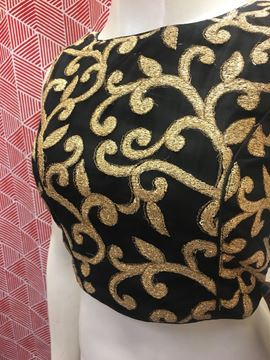 Picture of Blouse Black With Golden Designs