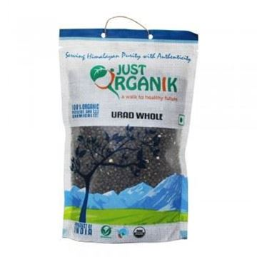 Picture of JUST ORGANIK Black Urid Whole (Certified ORGANIC)