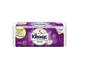 Picture of Kleenex Ultra Soft Cottony Clean 3Ply Toilet Tissue