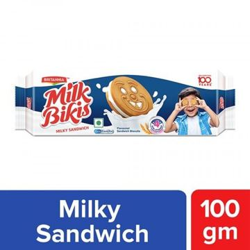 Picture of Britannia Milk Bikis Milky Sandwich Cookies