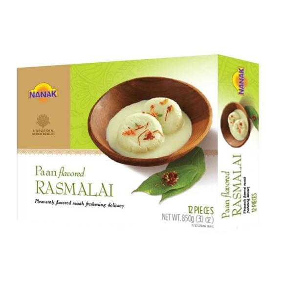 Picture of NANAK Paan Flavoured Rasmalai (Made From Milk) Chilled