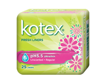 Picture of Kotex  Fresh Liners Ultra Thin PH5.5 Sanitary Napkins
