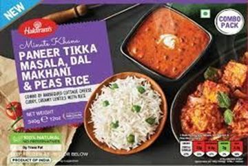Picture of Haldiram's Paneer Tikka Masala Dal Makhani With Peas Rice(Chilled)