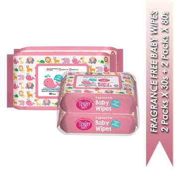 Picture of Tender Soft Fragrance Free Baby Wipes