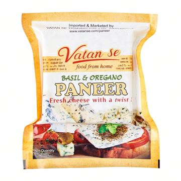 Picture of Vatan Se Fresh Paneer  Basil & Oregano BLOCK  (Delivered at least 2 days before it expires)