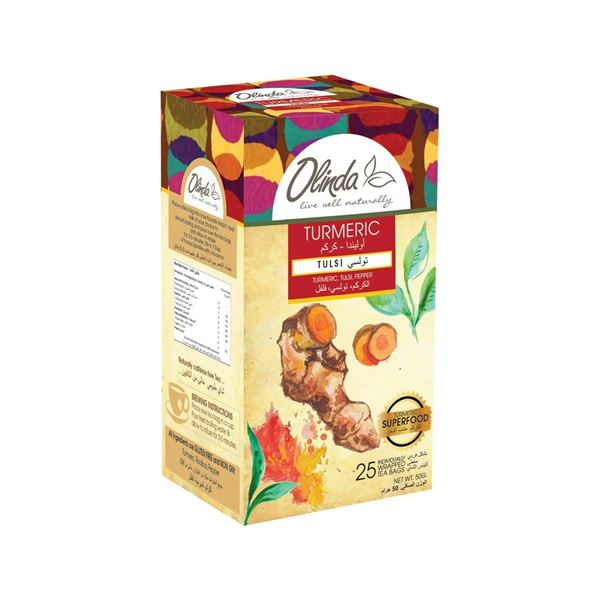 Picture of Olinda Turmeric With Tulsi Flavoured Tea Bags
