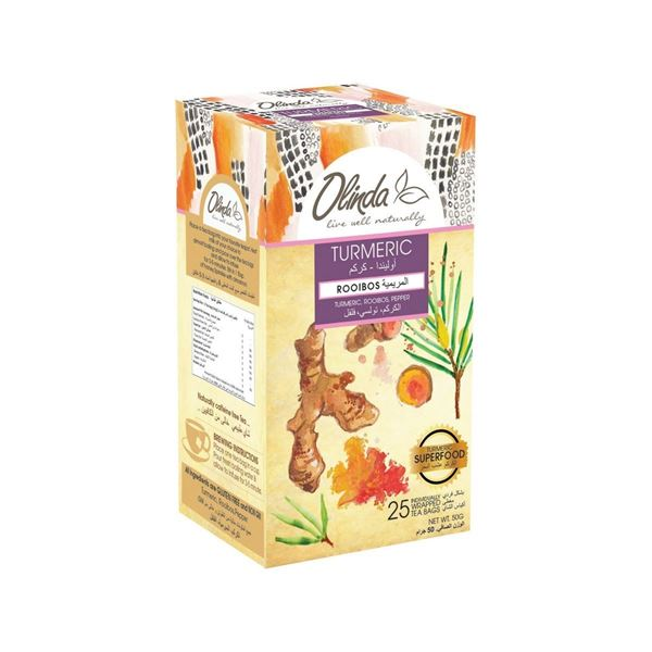 Picture of Olinda Turmeric With Rooibos Flavoured Tea Bags