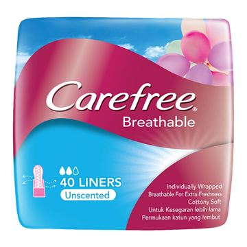 Picture of Carefree Breathable Liners Sanitary Napkins Unscented