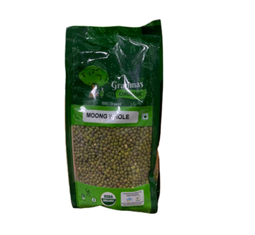 Picture of Granmas Green Moong Whole (Certified ORGANIC)