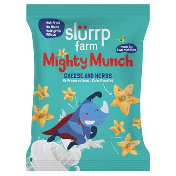 Picture of Slurrp Farm Mighty Munch Cheese & Herbs Puff