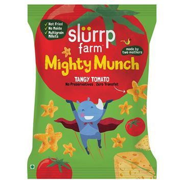 Picture of Slurrp Farm Mighty Munch Tangy Tomato Puff