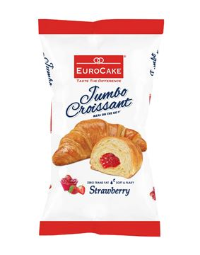 Picture of Eurocake Jumbo Croissant Filled With Strawberry