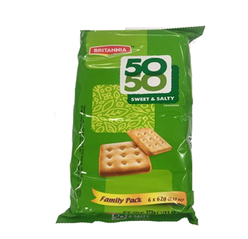 Picture of Britannia 50 50 Biscuits Sweet & Salty Family Pack