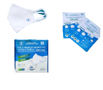 Picture of 3 Ply Fabric Mask Antibacterial (vietnam)