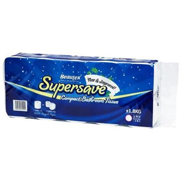 Picture of BEAUTEX 3 Ply Supersave Compact Toilet & Bathroom Rolls