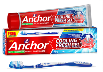 Picture of Anchor Cooling Fresh Gel Toothpaste Free Toothbrush