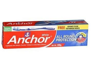Picture of Anchor White All Round Protection Toothpaste Free Toothbrush