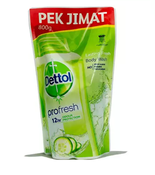 Picture of Dettol Anti Bacterial Shower Gel Lasting Fresh Refill
