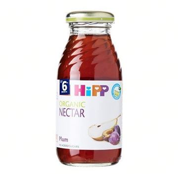 Picture of Hipp ORGANIC Plum Nectar Juice Glass Bottle