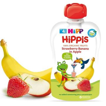 Picture of Hipp ORGANIC Strawberry Banana In Apple Juice Pouch