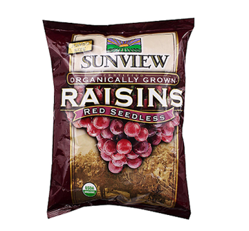 Picture of Sunview Organic Dried Red Raisins (Certified ORGANIC)