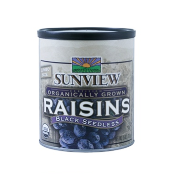 Picture of Sunview Organic Dried Black Seedless Raisins Can (Certified ORGANIC)