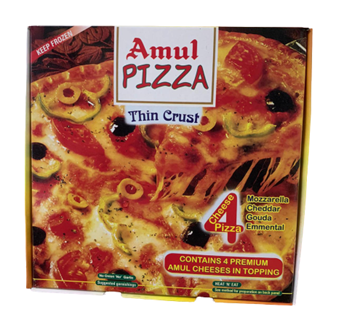 Picture of AMUL Thin Crust 4 Cheese Pizza (Chilled)