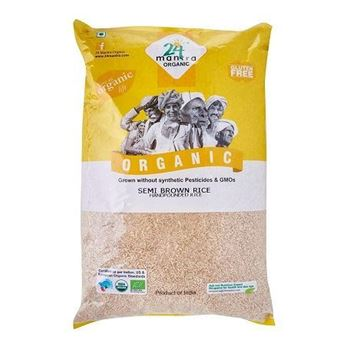 Picture of 24 MANTRA Sona Masoori Semi Brown Rice (Hand Pounded)    (Certified ORGANIC)