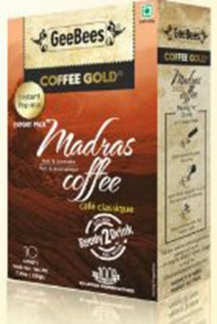 Picture of Geebees Instant Madras Coffee Gold Sachets (Sweetened)