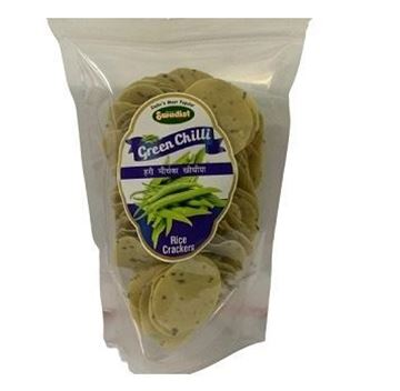 Picture of Swadist Coin Papad Rice Crackers (Green Chilli)