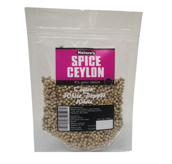 Picture of Nature's Spice Ceylon Organic White  Pepper Whole