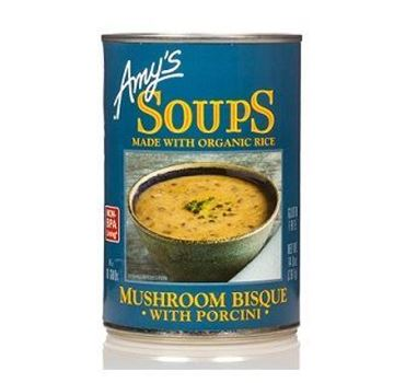 Picture of Amy's Organic Mushroom Bisque With Porcini Soup