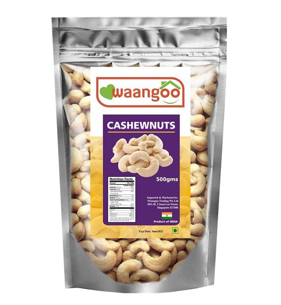 Picture of Waangoo Premium Quality Whole Cashewnuts (INDIA)