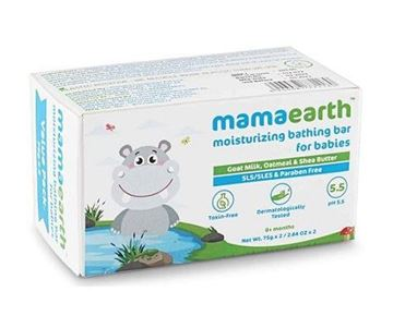 Picture of Mamaearth Moisturizing Baby Bathing Bar Soap (Certified ORGANIC)
