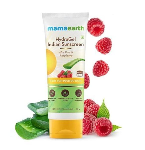 Picture of Mamaearth Hydra Gel Indian Sunscreen With Aloe Vera & Raspberry (Certified ORGANIC)