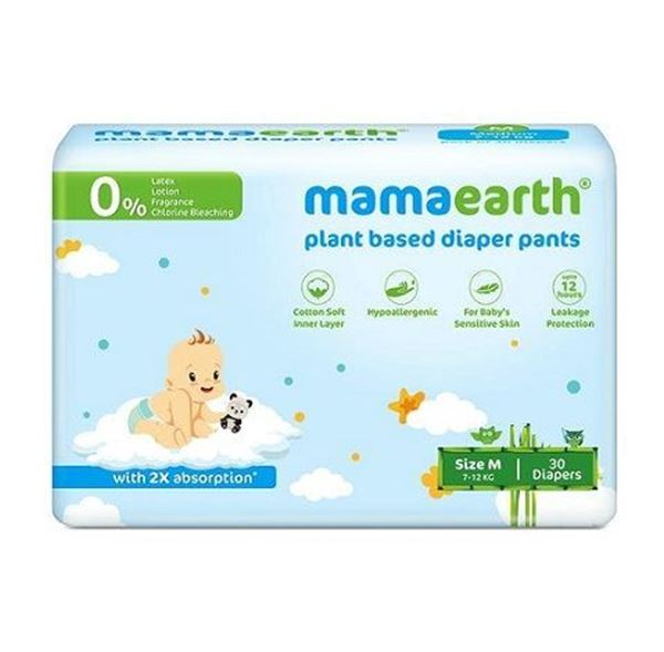 Picture of Mamaearth Plant Based Baby Diaper Pants Medium (M 30) (Certified ORGANIC)