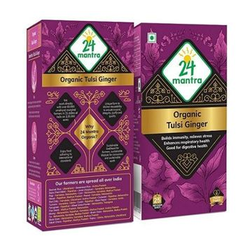 Picture of 24 MANTRA Tulsi Ginger Tea  (Certified ORGANIC)