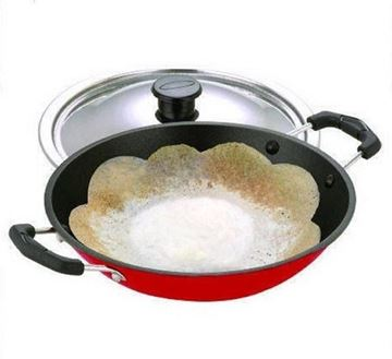 Picture of Bright Non Stick Appachetty With Stainless Steel Lid