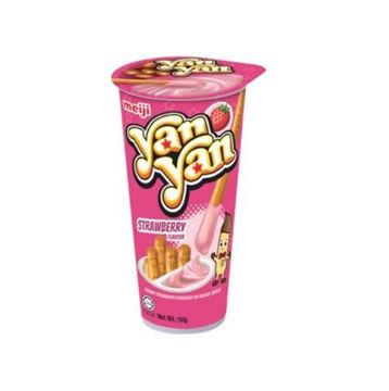 Picture of Meiji Yan Yan Creamy Strawberry Flavour Dip Biscuits