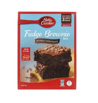 Picture of Betty Crocker Fudge Double Chocolate Brownie Mix